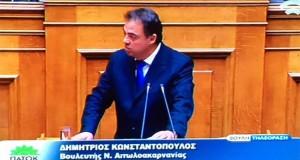 Ομιλία Δ. Κωνσταντόπουλου για το νομοσχέδιο της εκπαίδευσης