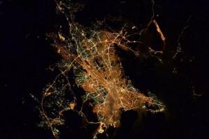 «Αθήνα καληνύχτα από τον Διεθνή Διαστημικό Σταθμό»