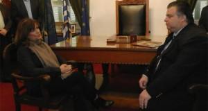 Συνάντηση Δημάρχου Μεσολογγίου με την Αν. Υπουργό Εργασίας